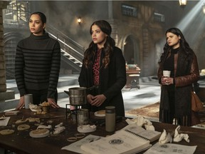 Three witches are better than one as the sisters of Charmed prove. Seen here, from left, are Madeleine Mantock as Macy; Sarah Jeffery in the role of Maggie; and Melonie Diaz as Mel.