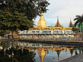 The Sule Pagoda is in the heart of downtown Yangon.