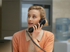 Sarah Gadon plays the receptionist Alyssa in the recently Vancouver-shot absurdist office comedy Corner Office. The film also stars Jon Hamm and Danny Pudi.