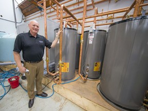 Lynn Mueller, (above) whose company, Sharc International Systems, has installed a heat-recovery unit at Mike Friedes eco-friendly branded laundry on Annacis Island as a step to cut energy use and greenhouse gas emissions.