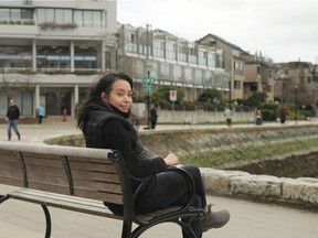 Maria Roth on the seawall in False Creek South.