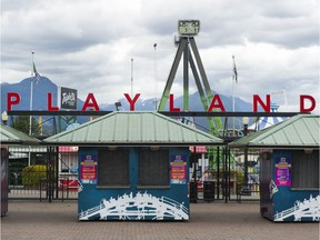 Playland in Vancouver, pictured on Tuesday, April 27, 2021.