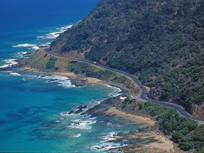 A view of the Great Ocean Road from Teddy's Lookout.