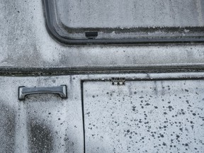 Black mould on a motorhome. This was not the motorhome involved in the B.C. case.