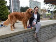 Robyn Pitman and her dog Finn at UBC.