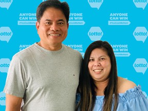 Edgar Ebreo and Liezl Panganiban who won $500,000 in September, just won another lotto prize of $675,000
