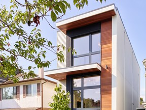 Harmony Sense Interiors owner, Lucila Diaz, thought her friend architect Nick Bray was joking when he suggested building a five-bedroom passive house on a 25-foot lot. MARTIN KNOWLES