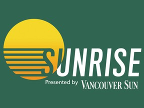 Sunrise is a daily newsletter present by the Vancouver Sun.