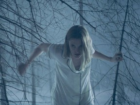 Grey (Lauren Beatty) enjoys a midnight stroll in the new Canadian-made horror movie Bloodthirsty, which comes to VOD May 21.