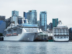 Cruise ships in Vancouver, pre-pandemic.