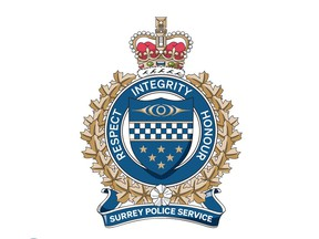 Chief Norm Lipinski introduced Surrey Police Services' new badge on May 4.
