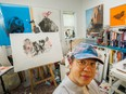Artist Nicholas Tay at his home in Vancouver on May 10. Tay's work is featured in the exhibition Amateur Cartography at the Massy Books Gallery in Chinatown.