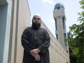 Imam Yahya Momla stands in front of the Masjid Al-Salaam & Education Centre in Burnaby on June 8.