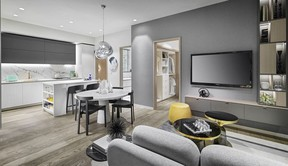 W68 offers studio, one-, two- and three-bedroom homes.
