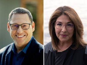 Climate activists and journalists Avi Lewis, left, and Naomi Klein, right, are joining UBC's department of geography.