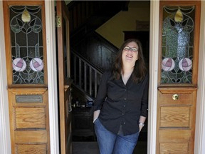 Former Vancouver Sun columnist Shelley Fralic, who passed away suddenly on May 30, outside her home in New Westminster.