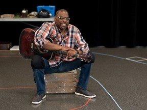 Jeremiah Sparks in rehearsals for Beneath Springhill: The Maurice Ruddick Story, coming to the Granville Island Stage on Aug. 5-29.