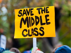 Don Wright's essay, published online with Public Policy Forum, maintains that, despite repeated promises, most politicians have abandoned the broad middle-classes by allowing real wages to stagnate.
