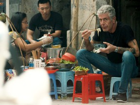 Anthony Bourdain worked in a fine restaurant but his travels brought him simpler fare.