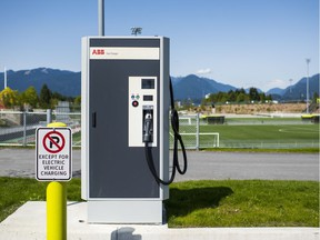 DC fast charger at Empire Fields in East Vancouver.