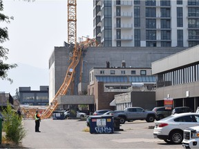 Crane had people on board when it collapsed at high-rise construction site in Kelowna.