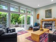 This two-bedroom, three-bathroom half duplex in Kitsilano was listed for $2,288,000 and sold for $2,350,000.