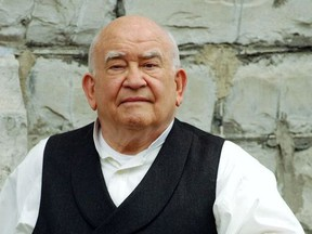 Actor Ed Asner on the set of 'The Man Who Saved Christmas' shooting here in Toronto