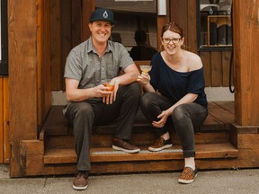 Pluvio owners Warren Barr and Lily Verney-Downey.