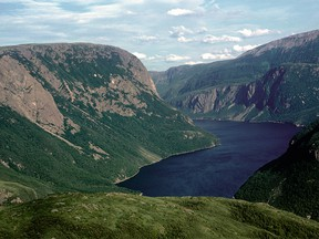 Bonne Bay separates the Great Northern Peninsula from the rest of the island. It is a part of Gros Morne National Park.