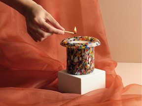 Sustainable candle collection designed by Irina Flore for Italian brand Aina Kari.