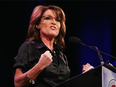 Former Alaska Governor and vice-presidential candidate Sarah Palin in a 2015 file photo.