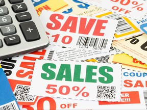 Coupons are pictured in this photo illustration.