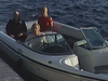 A screenshot of security video showing Linda O'Leary, wife of celebrity investor Kevin O'Leary, driving their speedboat to a neighbour's cottage on the evening of a fatal boat crash. Kevin is in a black shirt, Linda in blue jeans and a white top and Allison Whiteside, an O'Leary family friend, is in red top.