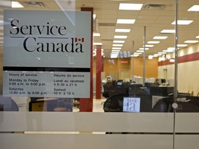NATIONAL POST STAFF PHOTO // TORONTO, ONT.: FEBRUARY 10, 2009 --  The Service Canada location on Gerrard St. in East-Toronto, Tuesday afternoon, February 10, 2009.  Service Canada offers single-window access to a wide range of Government of Canada programs and services, such as a Job Bank, Employment Insurance, an Apprenticeship Incentive Grant, etc. for citizens through more than 600 points of service located across the country, call centres, and the Internet. (Aaron Lynett / National Post) (File photos for any use) ADD: unemployment search help service support /pws ORG XMIT: POS2012121319405629