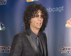 Howard Stern attends the 'America's Got Talent' finale post-show red carpet in New York in 2015.