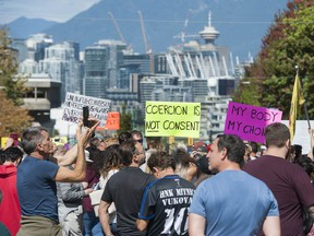 Thousands of people unhappy over the B.C. vaccine pass and other COVID-19 restrictions protested outside Vancouver General Hospital and Vancouver city hall on Wednesday.