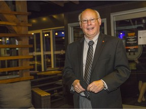 Liberal incumbent for Fleetwood Port Kells, Ken Hardie, meets with election supporters early at Tap House Bar & Grill in Surrey on Sept. 20, 2021.