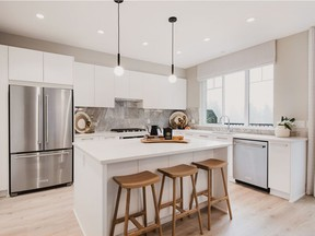 At the new Ballantree development in Coquitlam, the large, sleek kitchens have generous islands, clever design and five-burner gas cooktops that make them as appealing to cooks as guests.