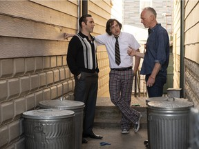 Alessandro Nivola (left), Michael Gandolfini (centre) and director Alan Taylor are seen here during the shooting of the much anticipated Sopranos prequel film The Many Saints of Newark. Taylor is teaching a director's master class at this year's Vancouver International Film Festival.