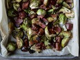 Dates and maple syrup sweeten Trish Magwood's Brussels sprouts and pancetta adds a delectable salty note.