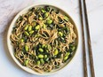 Sesame Soba Noodles with Kale and Edamame from The Vegan Family Cookbook, by Anna Pippus.
