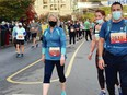 Provincial health officer Dr. Bonnie Henry completes the Royal Victoria 8K race on Oct. 10. Henry won fourth place in her age division, but her name was not read out because of threats against her.