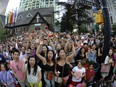 A crowd in downtown Vancouver, pre-COVID. There are several good reason to distrust the stereotype that Vancouver is the capital of hate crime.