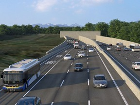 Rendering of a new eight-lane immersed-tube tunnel planned to replace the George Massey Tunnel on Highway 99.