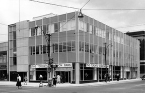 1965-The Toronto Dominion Bank at the corner of Ouellette Ave.and Wyandotte St. (The Windsor Star-FILE)