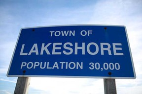 A Lakeshore sign is pictured Friday, Jan. 6, 2012.
