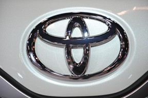 The Toyota logo is seen in this 2010 file photo.