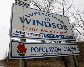 The Welcome to Windsor sign, with a slight alternation, is pictured in this file photo.