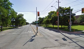 A view of Wyandotte Street East at Raymo Road in Windsor, Ont. is seen in this Google Maps image.