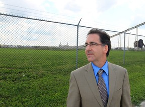 Windsor West MP Brian Masse is shown on the Detroit side of the border in this August 2011 file photo. (Jason Kryk / The Windsor Star)